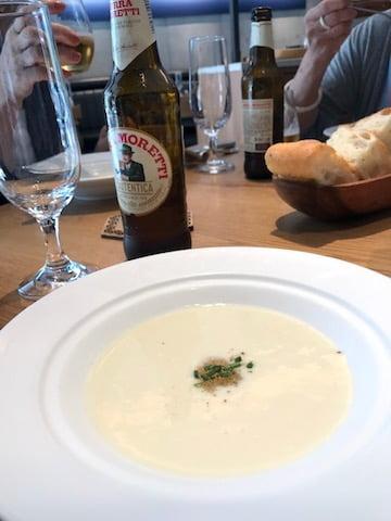 ランチ、スープ